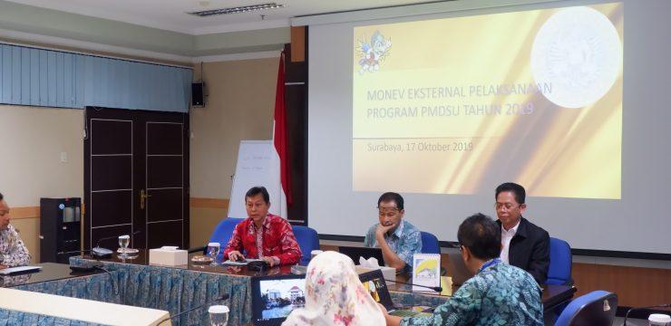 Monev dan Supervisi Program PMDSU UNAIR oleh Kemenristek Dikti