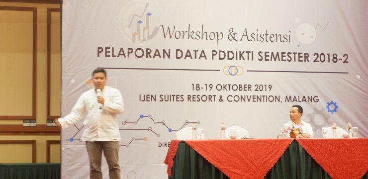 Workshop & Asistensi Pelaporan Data PD DIKTI Semester 2018 Genap